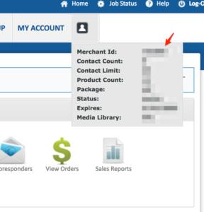 1ShoppingCart find merchant id