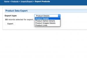 1ShoppingCart product export details