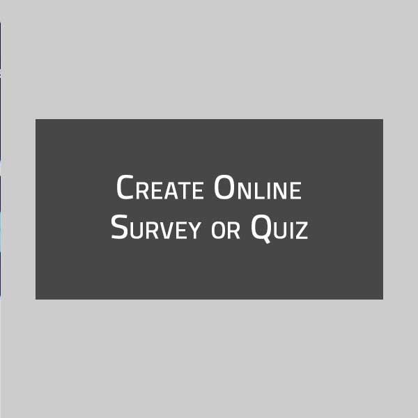 Create Quiz or Survey in JotForm or TypeForm