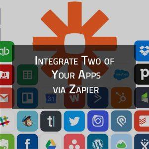 Integrate Applications Via Zapier